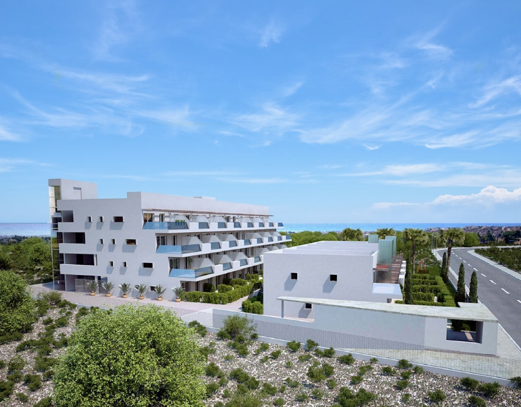 We offer new build apartments in a new residential complex under construction near best golf course,Spain