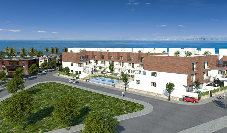 New complex with 38 apartments located in Los Alcazares with only few minutes walking to the beach.,Spain